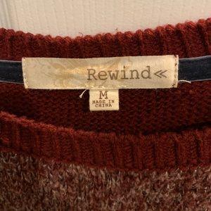 Rewind Sweaters - Rewind Deep Red Knitted Sweater